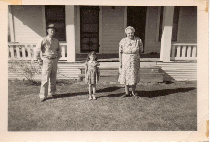 Mama with my granddaddy and sister, Barbie. Mama was the light of my life.